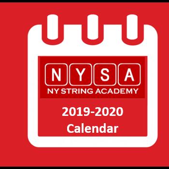 NY String Academy 2019-2020 Calendar