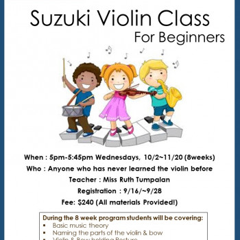 Suzuki Violin Group Class For Beginners