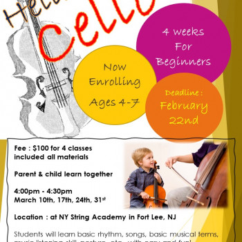 Cello Group Class For Beginners for MAR …