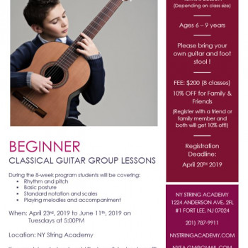 BEGINNER CLASSICAL GUITAR GROUP LESSONS